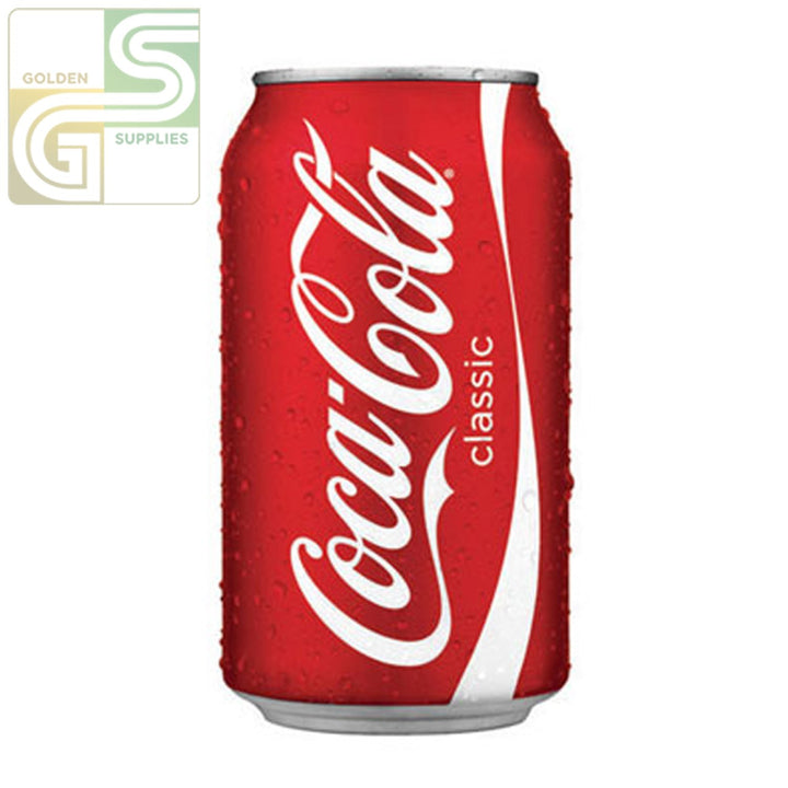 Coke 355ml x 24 Cans-Golden Supplies Ltd