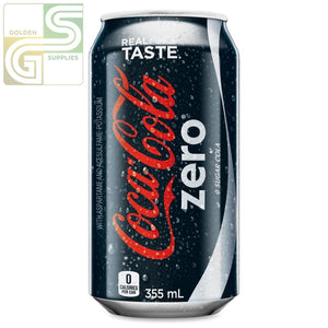 Coke Zero 355ml x 24 Cans-Golden Supplies Ltd