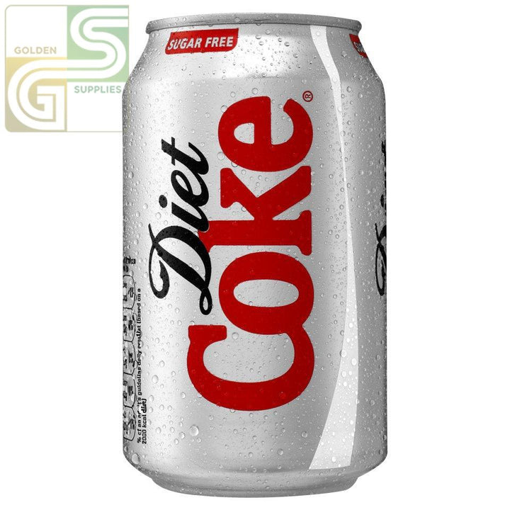 Diet Coke 355ml x 24 Cans-Golden Supplies Ltd