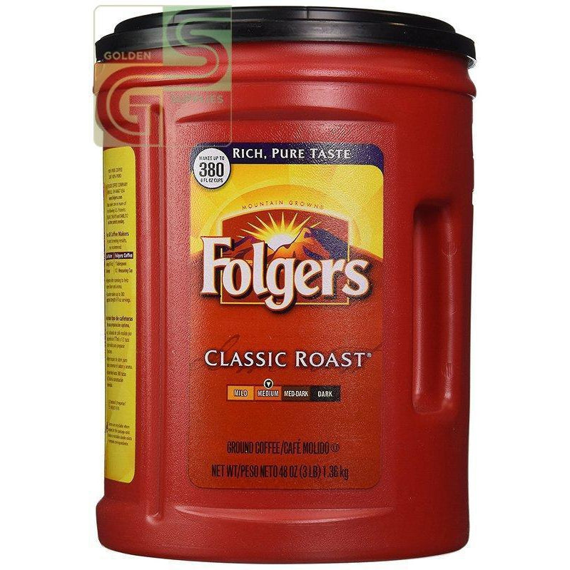 Folgers Classic Roast 1.36kg x 1 Can-Golden Supplies Ltd