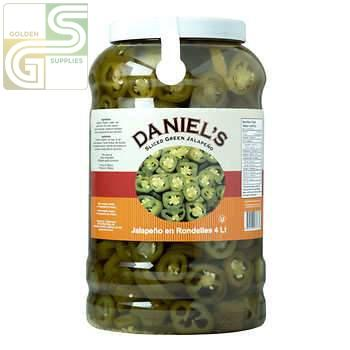 Green Jalapen Pepper Daniel's 3.78L x 1 Jug-Golden Supplies Ltd