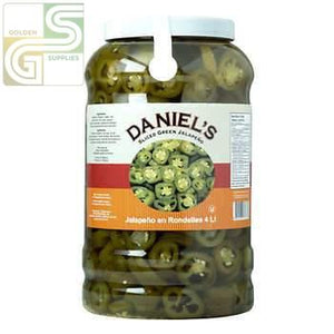 Green Jalapen Pepper Daniel's 3.78L x 4 Jugs-Golden Supplies Ltd