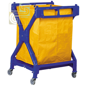 Laundry Plastic X-frame Blue Cart-Golden Supplies Ltd
