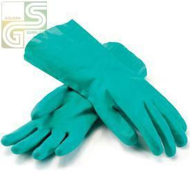 "Nitrile 13"" Green Gloves Large 12 Pairs-Golden Supplies Ltd"