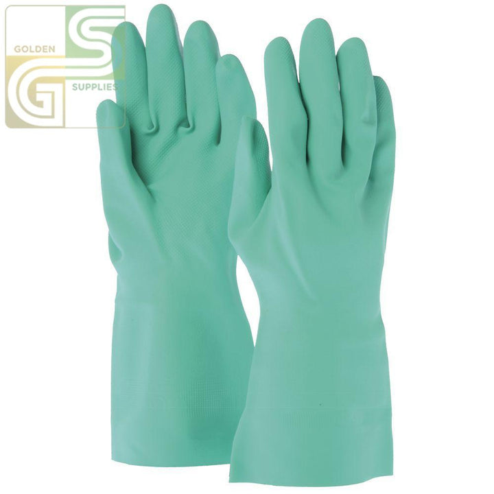 "Nitrile 13"" Green Gloves Med 12 Pairs-Golden Supplies Ltd"