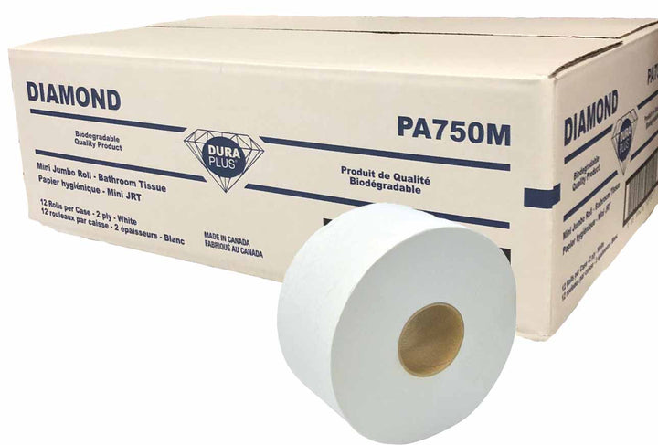Bathroom Tissue Jrt 2 Ply #750 Core 2.40""