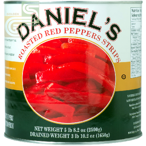 Roasted Red Peppers Strips 100oz x 1 Can-Golden Supplies Ltd