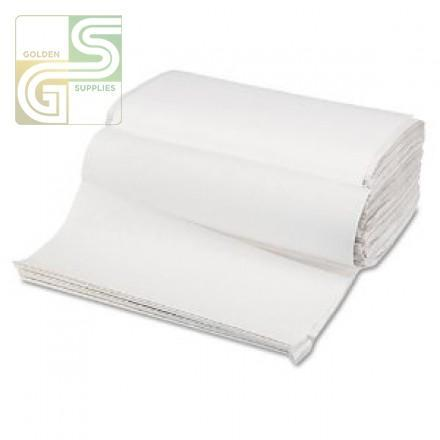Singlefold White Hand Towel 16 X 250 X 9'-Golden Supplies Ltd
