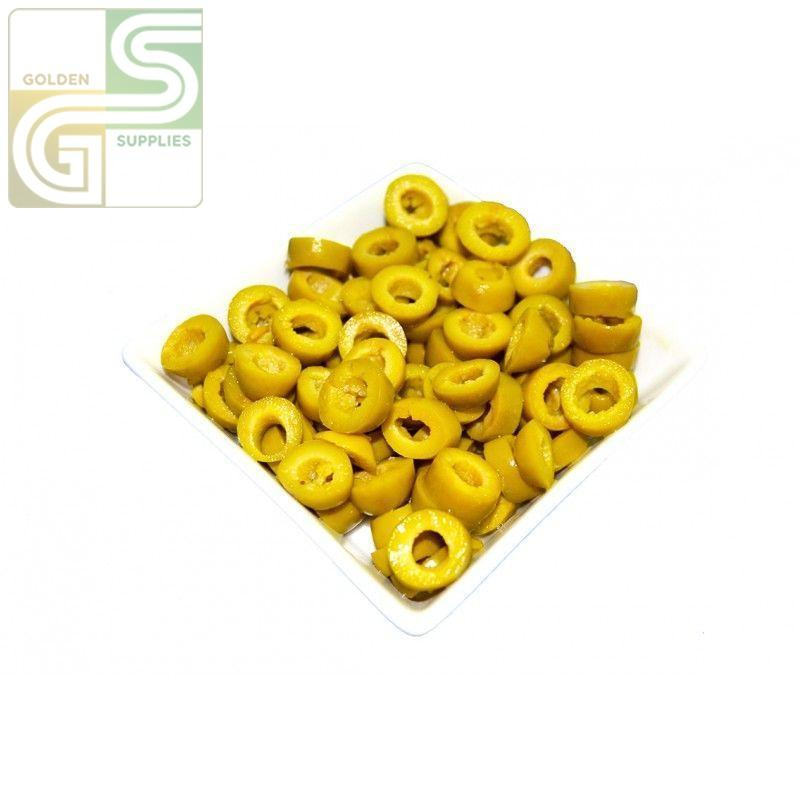 Sliced Green Olives 100oz x 1 Can-Golden Supplies Ltd
