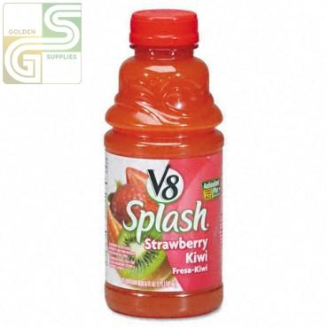 V8 Strawberry / Kiwi Splash Blend 473ml x 12 Bottles-Golden Supplies Ltd