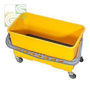 Window Cleaning Bucket With Caddy & Wheels Yellow-Golden Supplies Ltd