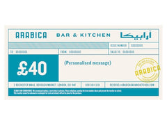 £40 Arabica Bar & Kitchen gift voucher