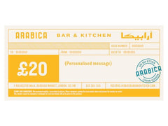 £20 Arabica Bar & Kitchen gift voucher