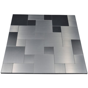 Geo Square Metal Mosaic Tile