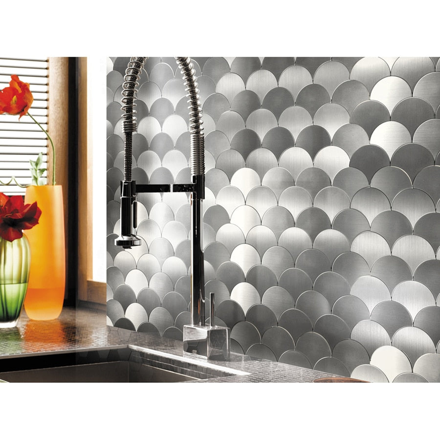 Fan Design Metal Mosaic Tile