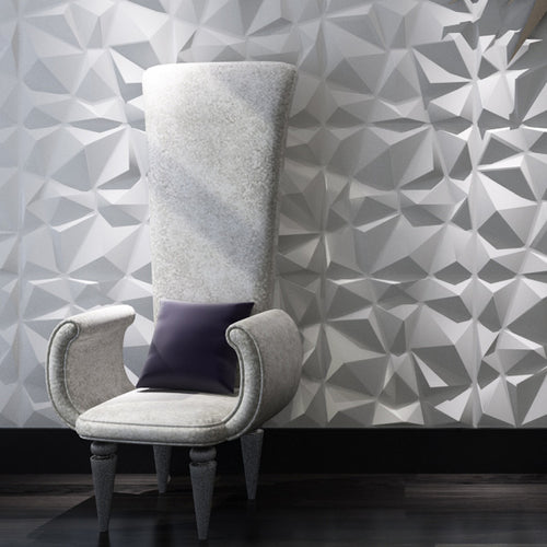 3D Diamond Pattern Wall Panels