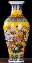 Load image into Gallery viewer, Yellow Peony Ancient Palace Vase