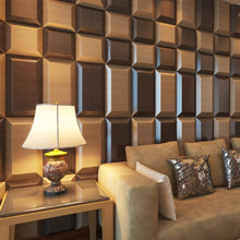 Load image into Gallery viewer, 3D Faux Leather Block Tile Panels