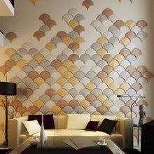 Load image into Gallery viewer, 3D Faux Leather Umbrella Shape Wall Panels