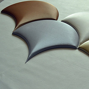 3D Faux Leather Umbrella Shape Wall Panels