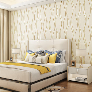 3D Wallpaper Curved Stripes
