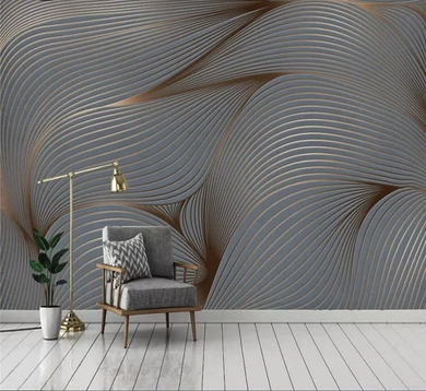 3D Wallpaper Wind Striations