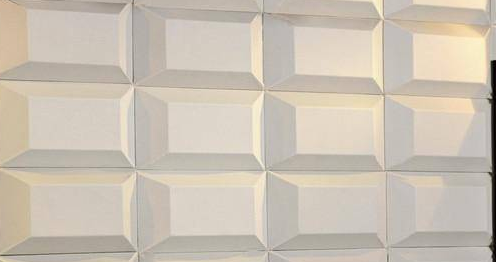 3D Faux Leather Block Tile Panels
