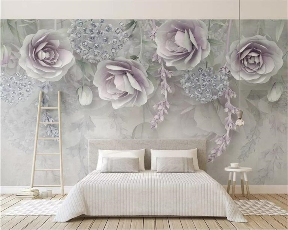 3D Modern Purple Flowers