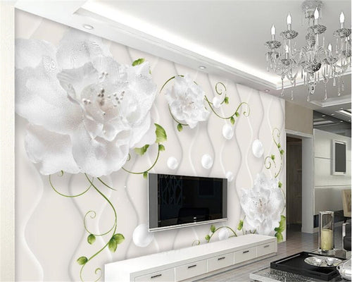 3D Wallpaper Custom Art Floral