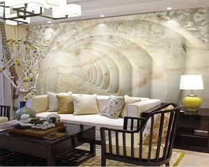 3D Wallpaper Jade Embossed Marble
