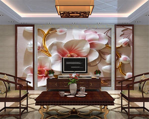 3D Wallpaper Fashion Floral