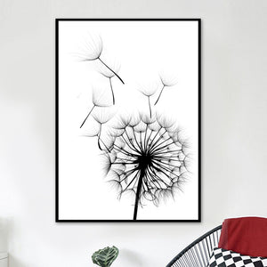 Dandelion Flower Canvas Painting