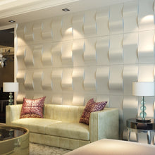 Load image into Gallery viewer, 3D Faux Leather Wave Block Wave Tile Panels