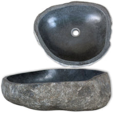 Load image into Gallery viewer, Natural River Stone Wash Basin