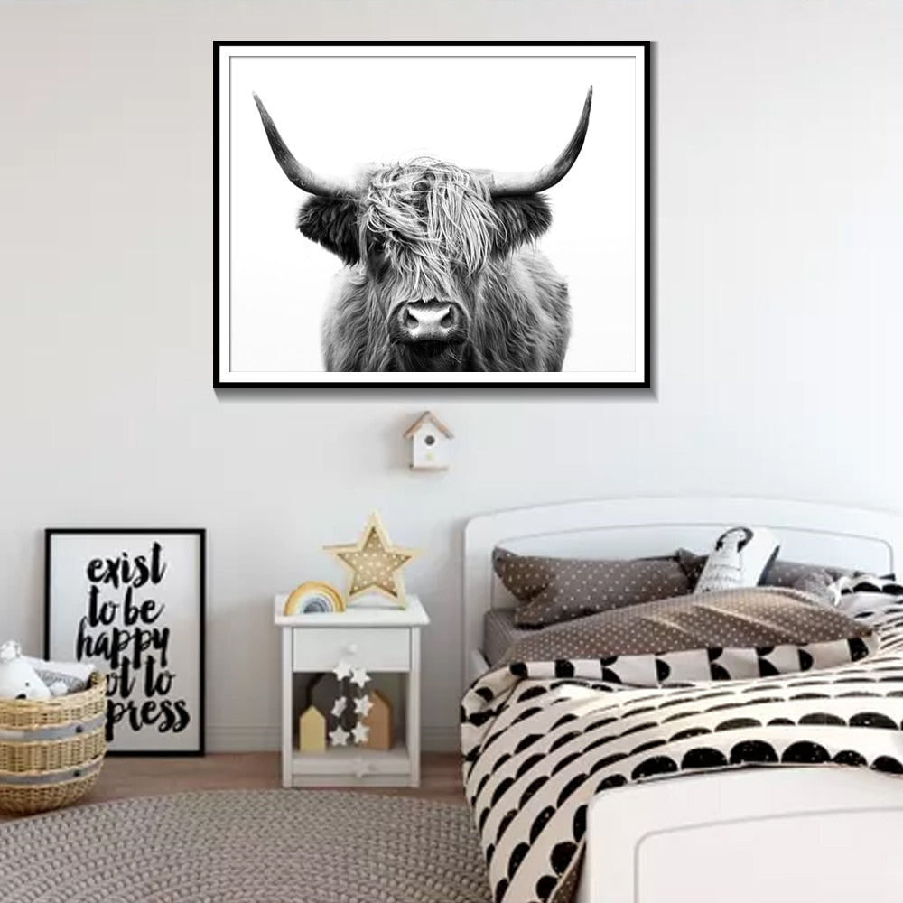 Highland Cow Canvas