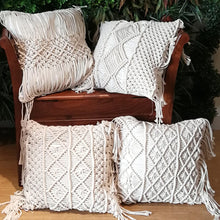 Load image into Gallery viewer, Macrame Hand Woven Cotton  Pillow Covers