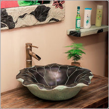 Load image into Gallery viewer, Classical Lotus Leaf Wash Basin