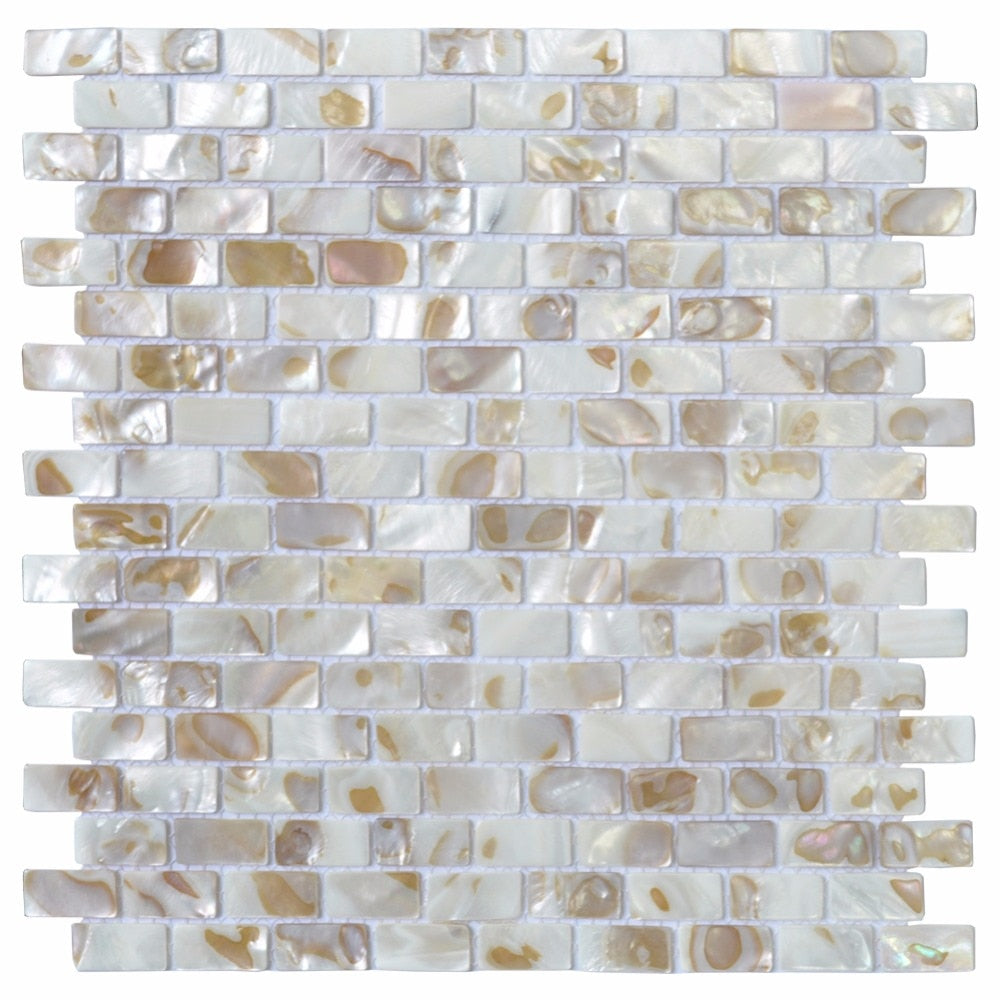 Mother of Pearl Oyster Herringbone Mosaic Wall Tile