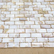 Load image into Gallery viewer, Mother of Pearl Oyster Herringbone Mosaic Wall Tile