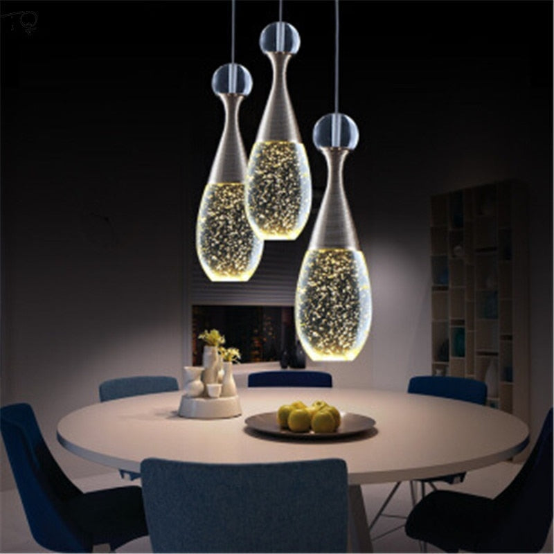 Luster Gold Crystal Pendant Light