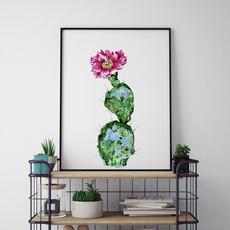 Cactus Canvas Painting
