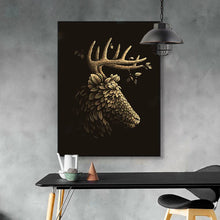 Load image into Gallery viewer, Gold Leaf Deer Head Canvas