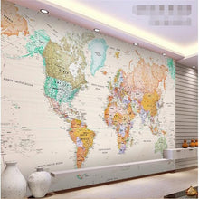 Load image into Gallery viewer, 3D Wallpaper Map World