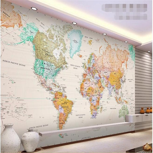 3D Wallpaper Map World
