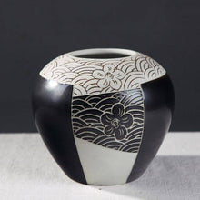Load image into Gallery viewer, Ceramic Vase Hand Carved