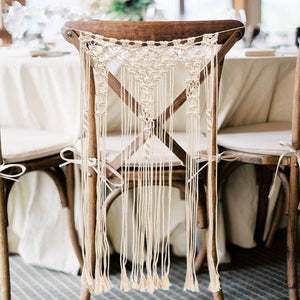 Macrame Chair Back Cover