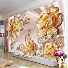 Load image into Gallery viewer, 3D Wallpaper European Luxury Jewelry Rose