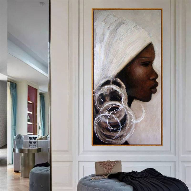 African Woman Face Canvas