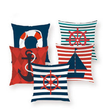 Load image into Gallery viewer, Marine Anchor Pillow Cases