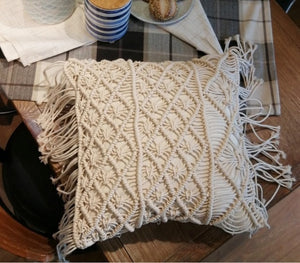 Macrame Hand Woven Cotton  Pillow Covers